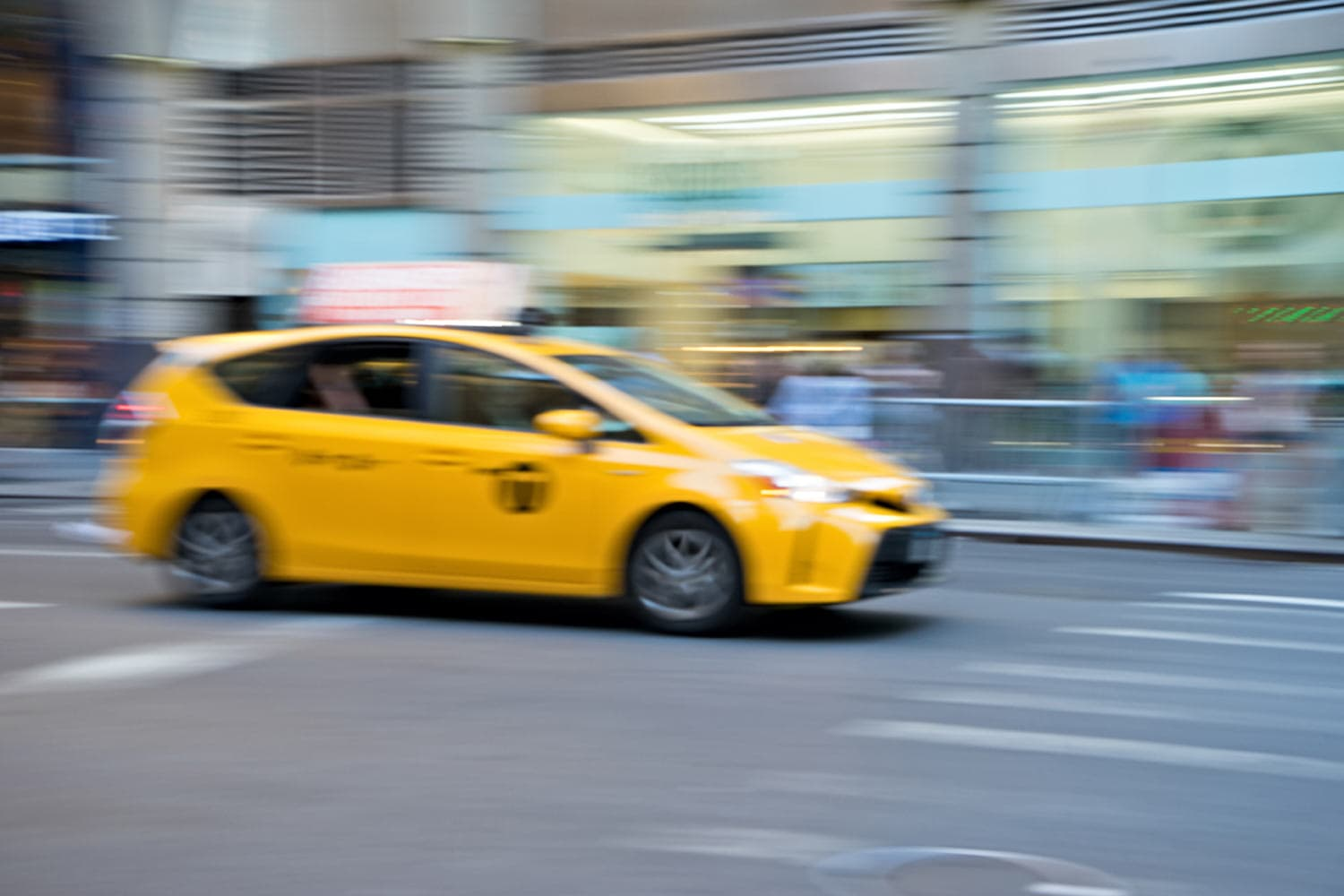 new york taxi blurry